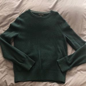 Dark green Banana Republic crew neck sweater